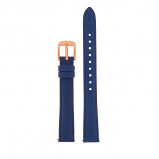 Fossil Uhrenarmband LB-ES3795 Original Ersatzband Leder 14 mm Blau