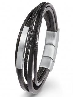s.Oliver 2022624 Herren Armband Edelstahl Silber 21, 5 cm