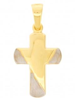 Gerry Eder 27.9202 Anhänger Kreuz 14 Karat (585) Bicolor Bicolor Gold