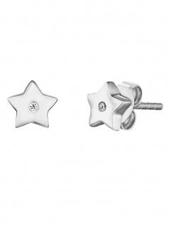 Herzengel HEE-STAR-ZI-ST Mädchen Ohrstecker Stern Sterling-Silber 925
