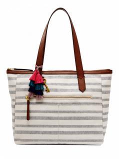 Fossil Damen Hand Tasche Fiona Shopper Henkel Beige ZB7503-566