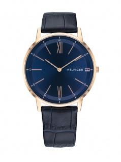 Tommy Hilfiger 1791515 COOPER Uhr Herrenuhr Edelstahl Blau