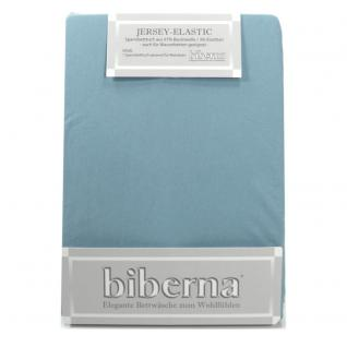 Biberna 77866-221 Jersey Elastic Spannbetttuch Eisblau 90x190 100x220