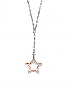 Esprit ESNL00451342 Damen Collier Vivid Star Bicolor Rose Weiß 45 cm
