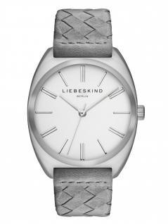 LIEBESKIND LT-0048-LQ Uhr Damenuhr Lederarmband Grau