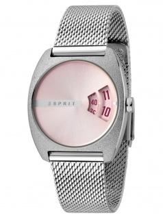 Esprit ES1L036M0055 Disc Pink Silver Mesh Damenuhr Edelstahl Silber
