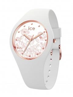 Ice-Watch 016662 ICE flower Spring white S Uhr Damenuhr Kautschuk Weiß