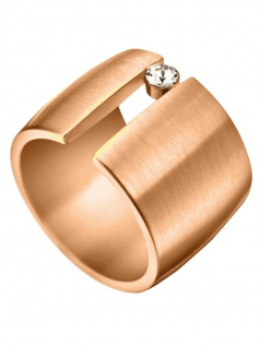 Esprit ESRG00142217 Damen Ring LAUREL Edelstahl Rose Weiß 53 (16.9)
