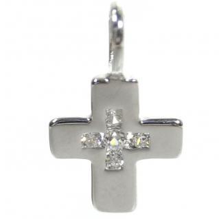 Basic Silber SKE52 Kinder Anhänger Kreuz Silber Zirkonia