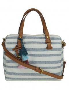 Fossil Damen Handtasche Tasche Henkeltasche Rachel Satchel Weiß