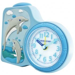 JACQUES FAREL ACB712DO-R Delfin Kinder Wecker
