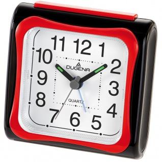 DUGENA 4460618 Wecker Kunststoff Analog Licht Alarm rot-schwarz
