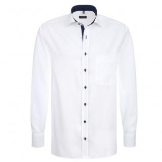 Eterna Herrenhemd Langarm Comfort Fit Weiß Gr. XL/43 8100/00/E137