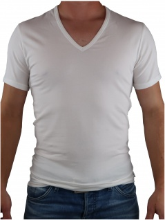Calvin Klein Herren T-Shirt Kurzarm 2er Pack S/S V Neck Weiß XL