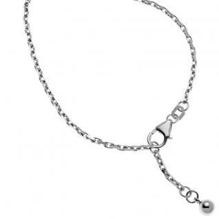 Basic Silber SFK03 Damen Fußkettchen Silber 24, 5 cm