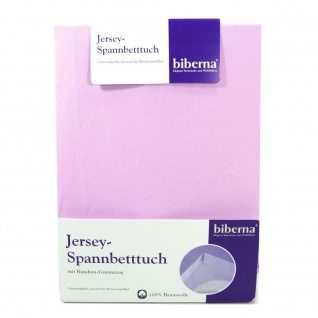 Biberna 77155-324-087 Jersey Spannbetttuch Flieder 180x200 - 200x200