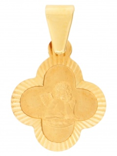 Gerry Eder 22.0101 Anhänger Schutzengel 14 Karat (585) Gelbgold Gold