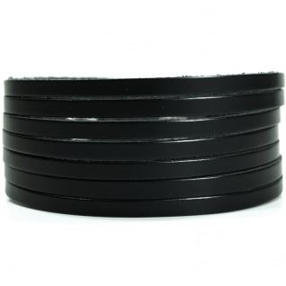 CJBB0759 Herren Armband Leder schwarz 21, 5 cm