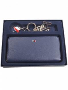 Tommy Hilfiger Damen Geldbörse Basic Leather Gift Set Leder Blau