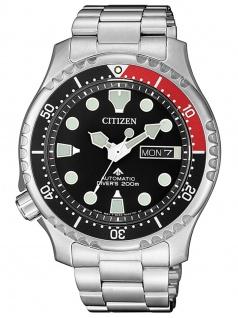 Citizen NY0085-86E Diver Uhr Herrenuhr Edelstahl Datum Silber