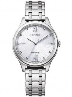 Citizen EM0500-73A Eco Drive Uhr Damenuhr Edelstahl Silber