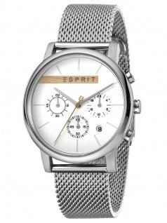 Esprit ES1G040M0035 VISION Uhr Damenuhr Edelstahl Chrono Datum Silber