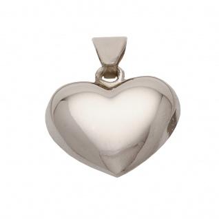 Basic Silber SH05 Damen Anhänger Herz Silber