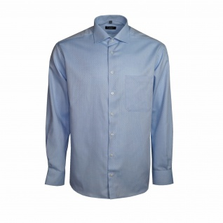 Eterna Herren Hemd Langarm Comfort Fit Blau XL/43 Hemden 4401/12/E19K