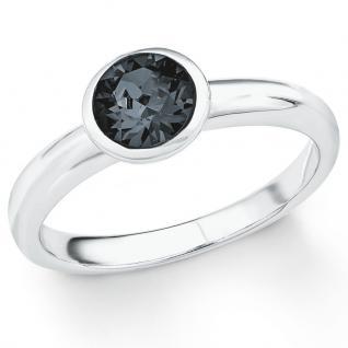 s.Oliver 2018664 Damen Ring Sterling-Silber 925 Silber Grau 56 (17.8)