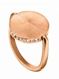 Esprit ESRG00022218 Damen Ring Sunset Sparkle Rose Weiß 57 (18.1)