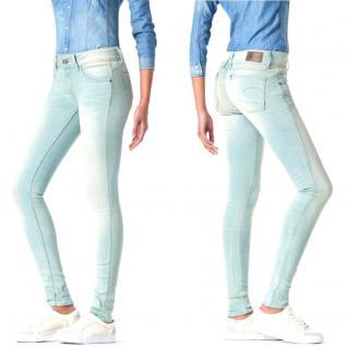 G-Star Damen Jeans Hose Lynn Mid Skinny Blau-Beige Gr. 30W / 32L