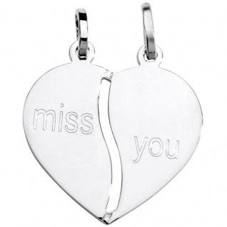Basic Silber SL20 Anhänger Partneranhänger Herz Silber