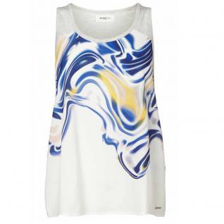 Vero Moda Damen Top Shirt Ärmellos JACINAL Tank Top Blue Weiß-Blau L