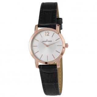 Jacques Lemans 40-2D Uhr Damenuhr Lederarmband schwarz UVP €149,--