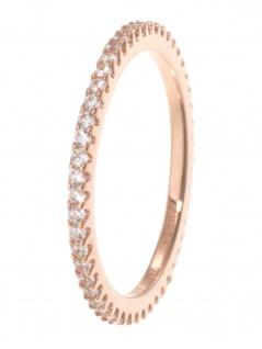gooix 943-06727-560 Damen Ring Sterling-Silber 925 Rose weiß 56 (17.8)