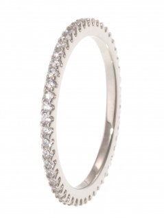 gooix 943-06726-580 Damen Ring Sterling-Silber 925 weiß 58 (18.5)