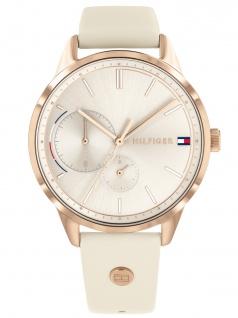Tommy Hilfiger 1782022 BROKE Uhr Damenuhr Lederarmband Datum Beige