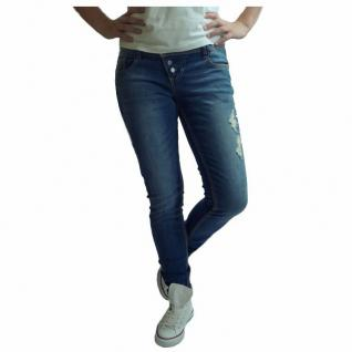 Authentic Style Damen Hose Sublevel Slim Fit Jeans Blau Gr. M