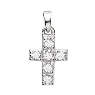 Basic Silber 27.0008S Damen Anhänger Kreuz Silber Zirkonia weiß