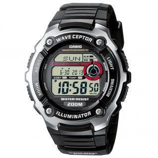 CASIO WV-200E-1AVEF WAVE CEPTOR Funkuhr Uhr schwarz - Vorschau 1