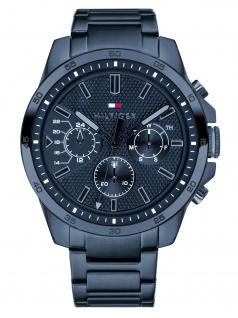 Tommy Hilfiger 1791560 DECKE Uhr Herrenuhr Edelstahl Datum Blau