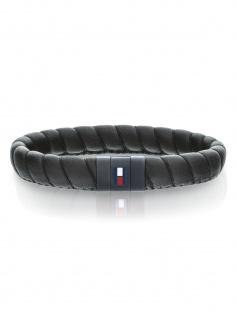 Tommy Hilfiger 2701056 Herren Armband Edelstahl Silber Schwarz 21 cm
