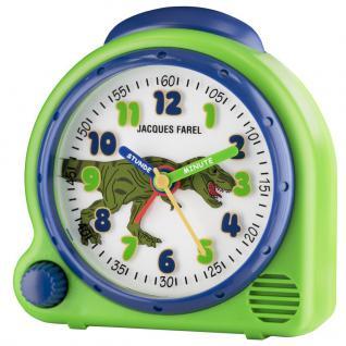JACQUES FAREL AVC13DINO-G Dinosaurier Wecker Junge Alarm grün