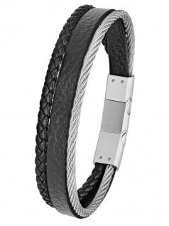 s.Oliver 2024231 Herren Armband Edelstahl Silber 21, 5 cm