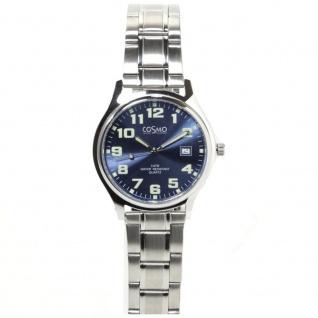 Cosmo 02063RMB-blau Uhr Herrenuhr Edelstahl Datum blau