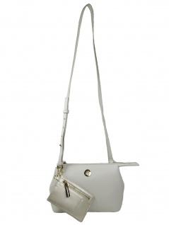 Tommy Hilfiger Damen Handtasche Tasche Charming Tommy Crossover Grau
