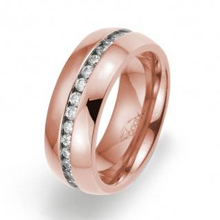 gooix 444-02129-58 Damen Ring Edelstahl Rose Weiß 58 (18.5)