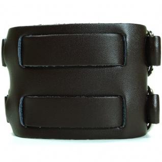 CJBB1913-2 Herren Armband Leder braun 22, 5 cm