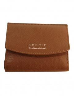 Esprit Damen Geldbörse Classic small city wallet Leder Braun