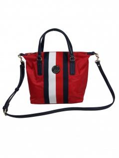Tommy Hilfiger Damen Handtasche Tasche Poppy SM Tote Corp Rot